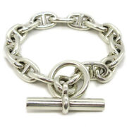 Hermes Chaine Dand039ancre Pm Silver 925 Charm Bracelet Silver 17d089361 37175