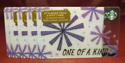 Lot Of 10 Starbucks 2017 One Of A Kind Gift Cards New With Tags