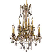 Crystal Chandelier French Gold Foyer Dining Room Kitchen Island 12-light 36