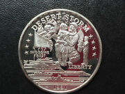 1991 New Queensland Mint Victory Homecoming 25 Silver Coin Desert Storm P2407