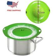 Bowl Pot Lid Cover Spill Preventer Stopper Silicone Kitchen Bpa Free 12 Inch