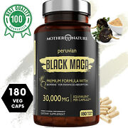 Organic Black Maca Extract 30,000mg With Bioperine For Best Absorption - 180 Ct.