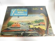 Vintage Tri-ang Minic Motorways Slot Car Track And Two Buses. 100 Complete M-1512