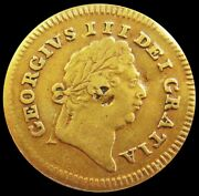 1801 Gold Great Britain 1/3 Guinea Colonial Counterstamped King George Iii Coin