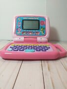 Leap Frog 2 In 1 Leaptop Touch Pad, Pink, 5 Learning Modes, Tested Works Great