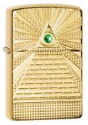 Zippo Windproof Deep Carved Lighter Eye Of Providence Design 49060 New In Box