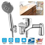Bathroom Shower Mixer Tap Sink Taps Faucet With Hand Held Hose Sprayer Hotand Cold