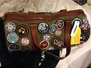Saint Laurent Patches Canvas Holdall Olive Green Very Rare