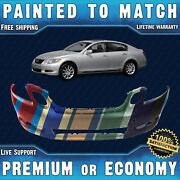 New Painted To Match - Front Bumper For 2006 2007 Lexus Gs300 Gs350 Gs430 Gs450h