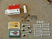 Bachmann Plasticville Lot Of Accessories Signs, Fence, Barn, Playground People