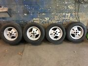 """Lancia Montecarlo S1 Wheels 13"""" Oem With Staggered Size Tires"""