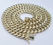 Real 10k Yellow Gold Miami Cuban Link Chain 8 Mm 20 Inches Necklace Box 33 Gra.