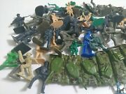 Toy Soldiers Plastic Army Military Figures Tanks Horses Men Vintage