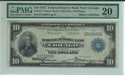 Fr.813 1915 10 Chicago Federal Reserve Bank Note Pmg Graded Very Fine 20