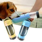 Portable Pet Dog Water Bottle Drinking Bowls With Activated Carbon Filter
