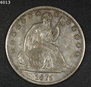 1875-s Liberty Seated Half Dollar Au Free Sh After 1st Item