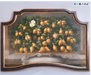 Exquisite Large Lemon Oil Painting With Unusual Black Gold Gilt Frame- 31 X 51