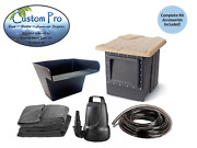 Custom Pro Pond Kit -water Garden - Waterfall - 6and039x8and039 - Instructions -fish Diy