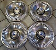 1964 Ford 14 Inch Hubcaps Vintage Galaxie Set Of 4 Four
