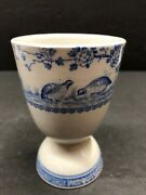 Vintage Antique Furnivals Quail Blue Egg Cup Blue And White China B