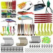 Freshwater Fishing Tackle Kit 161pcs Box With Worms Jigs Lures Bass Walleye