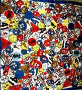 Coach X Disney Mickey Mouse Multicolor Patches Scarf F59488 35 By 35 Nwt 175