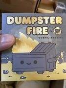 Kidrobot Exclusive Dumpster Fire 2020 Black And Gold Edition By 100 Soft In Hand