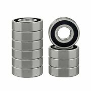 Xike 10 Pcs 6204-2rs Double Rubber Seal Bearings 20x47x14mm Pre-lubricated A...