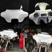 Detachable Batwing Headlight Fairing 6x9 Speakers For Harley Road King 1994-2020