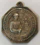 1920 Us Army Medal Sterling Silver Northeastern Dept Track And Field Tug Of War