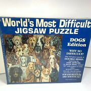 Worldand039s Most Difficult Jigsaw Puzzle 529 Piece Double Sided Dogs Edition Sealed
