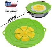 Bowl Pot Lid Cover Spill Preventer Stopper Silicone Kitchen Bpa Free 10 Inch