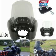 Front Fairing Windshield For Harley Dyna Fat Bob Low Rider Wide Glide 2006-2017