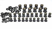 Well Nut Assortment 60 Piece 10 Each M4, M5, M6 Well Nuts And Black Nylon Washers