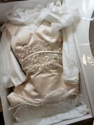 Christian Michelle Wedding Embroidered Couture Beaded Crystals  Dress Sz 8 Iv