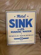Vintage Marx Tin Litho Sink With Running Water Unused In Box Old Warehouse Find