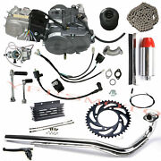 Lifan 140cc Engine Motor+exhaust+chain+oil Cooler+chain For Crf50 Crf70 Sl90 Z50