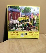Summer Farm Days Jigsaw Puzzle 1000 Piece No.13703 Sunsout Art By Kevin Walsh