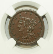 1851 Ngc Au 55 Bn Braided Hair Half Cent ☆☆ C-1 ☆☆ Great For Sets 088