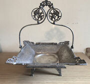 """Antique Aesthetic Movement Quadruple Silver Plated Fruit Dish By """"pairpoint """""""