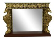 50873ec Antique Neo Classical Eagle Carved Marble Top Console Table