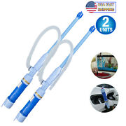 2 Turbo Electric Liquid Transfer Siphon Pump Cordless Battery Powered Gas Oil