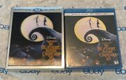 The Nightmare Before Christmas Blu-ray 3d + Dvd + Lenticular Slip Cover New