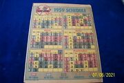 1959 New York Yankee's Schedule From Daily News Newspaper