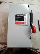 Cutler Hammer 60 Amp Fused Safety Switch 600 Vac 50 Hp 3 Phase Dh362fgk