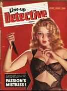 Line-up Detective February 1949-spicy Gga George Gross Babe With Knife Cvr