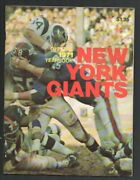 New York Giants Nfl Football Team Yearbook 1971-high Grade-team Pix And Info-pl...