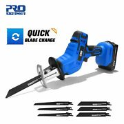 Cordless Reciprocating Saw 21v Adjustable Speed Chainsaw Wood Metal Pvc