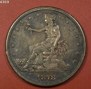 1878-s Trade Dollar Au++ Free S/h After 1st Item