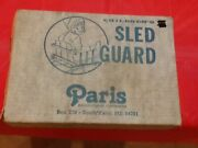 Vintage Collectable Paris Manufacturing Maine Childs Wooden Seat /runner Sled